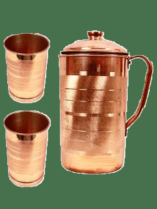 Copper Jug Two Glass